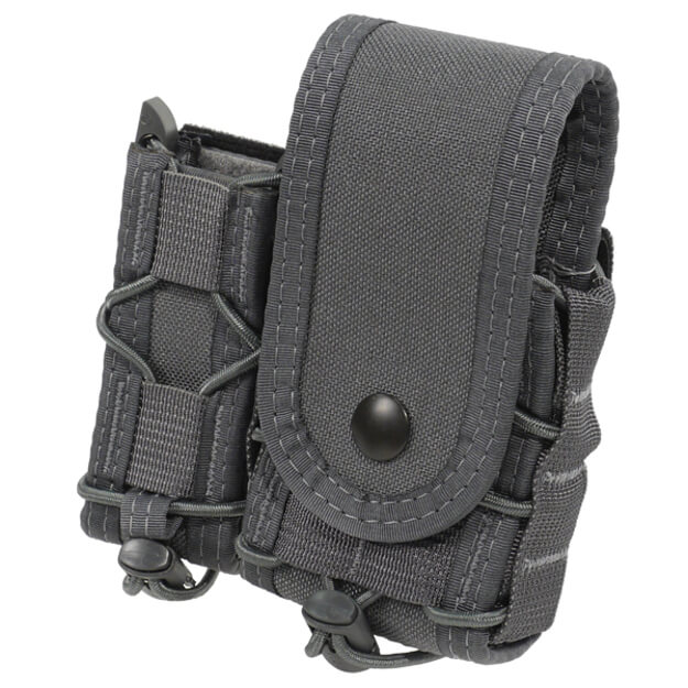 High Speed Gear Belt Mounted LEO Taco w/ Snap Cover - Wolf Grey