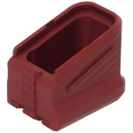 ZEV Factory Glock Magazine Extended +5 9MM Base Pad - Red