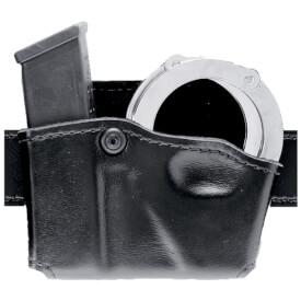 Safariland 573 Concealment Mag Paddle Holder Single w/ Cuff Pouch Right Hand STX PLain Black