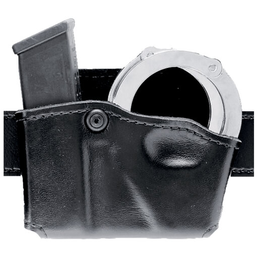 Safariland 573 Concealment Mag Paddle Holder Single w/ Cuff Pouch Right Hand STX PLain Black