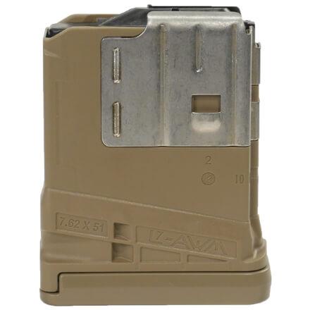 Lancer L7AWM 7.62mm 5rd Mag Opaque - Dark Earth