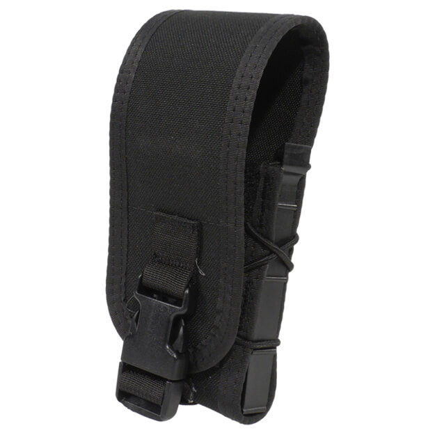 High Speed Gear Belt Mounted Rifle Taco w/ Snap Cover - Black