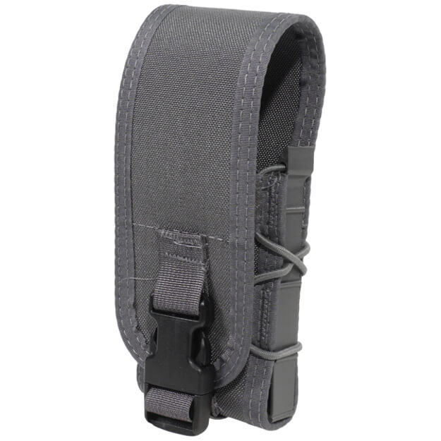 High Speed Gear Belt Mounted Rifle Taco w/ Snap Cover - Wolf Grey