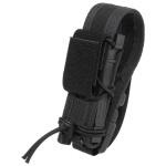 High Speed Gear Belt Mounted Pistol Taco w/ Snap Cover - Black