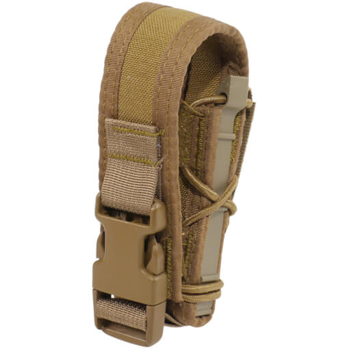 High Speed Gear Belt Mounted Pistol Taco w/ Snap Cover - Coyote Brown