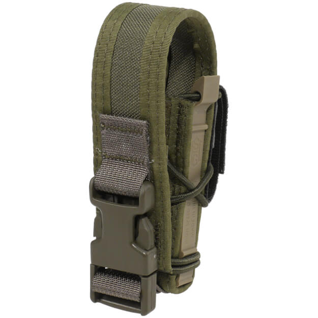 High Speed Gear Belt Mounted Pistol Taco w/ Snap Cover - Olive Drab Green