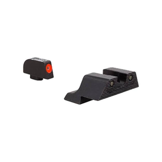 Trijicon Glock HD XR Night Sight Set - Orange Front Outline 9mm,.40,.45,.357 & .380