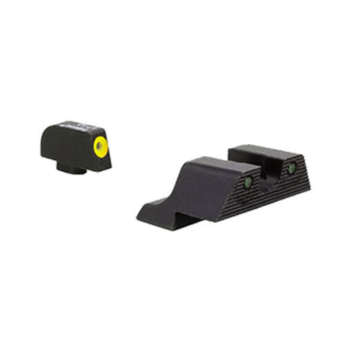 Trijicon Glock HD XR Night Sight Set - Yellow Front Outline 10mm & 45 Auto