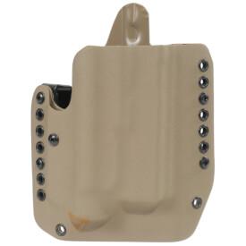 Alpha Holster Glock 17/19/22/23/31/32/47 w/X300U Right Hand - E2 Tan