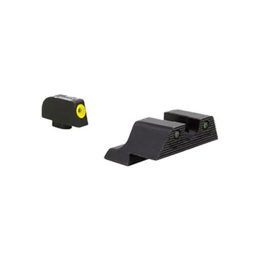 Trijicon Glock HD XR Night Sight Set - Yellow Front Outline Glock 42 & 43