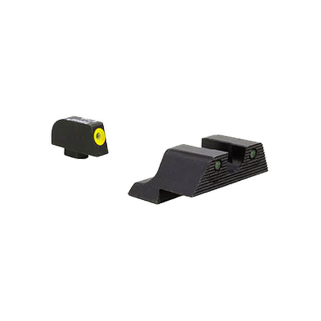Trijicon Glock HD XR Night Sight Set - Yellow Front Outline Glock 42 & 43
