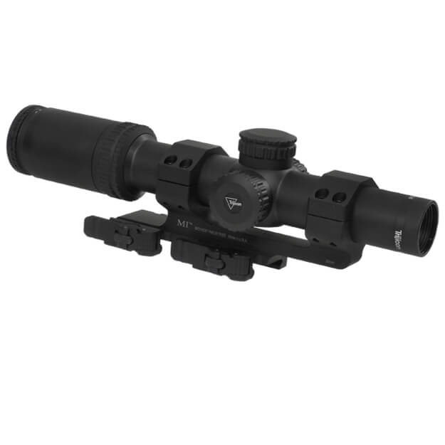 Trijicon AccuPower 1-4x24 223 BDC Seg-Circle Red w/ Midwest Ind 30MM QD Mount