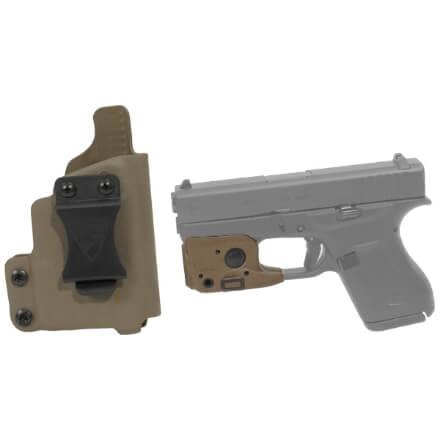 DSG CDC Glock 42 RH E2 Tan includes Streamlight TLR-6 Glock 42/43 Tactical Light - Dark Earth