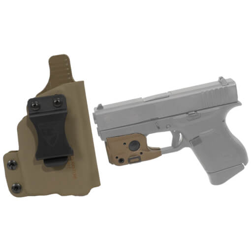 DSG CDC Glock 43 RH E2 Tan includes Streamlight TLR-6 Glock 42/43 Tactical Light - Dark Earth