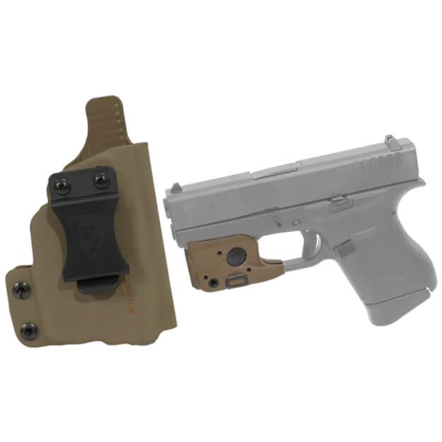 DSG CDC Glock 43 RH E2 Tan includes Streamlight TLR-6 Glock 42/43 Tactical Light - Dark Earth