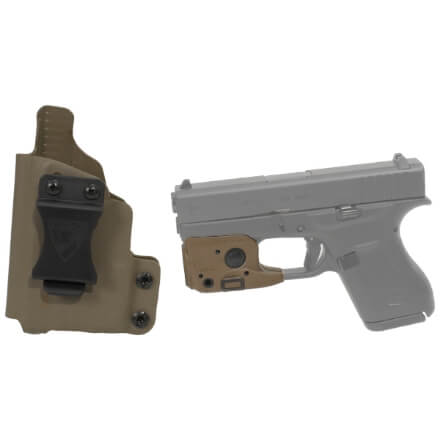 DSG CDC Glock 42 LH E2 Tan includes Streamlight TLR-6 Glock 42/43 Tactical Light - Dark Earth