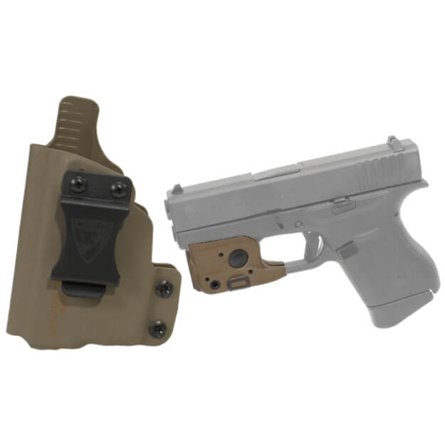 DSG CDC Glock 43 LH E2 Tan includes Streamlight TLR-6 Glock 42/43 Tactical Light - Dark Earth