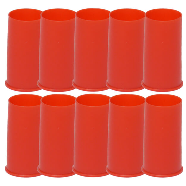 AR15 M16 Red Muzzle Cover - 10 Pack