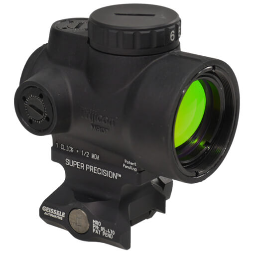 Trijicon 1x25 MRO 2 MOA Adjustable Red Dot w/ Geissele MRO Lower 1/3 Mount