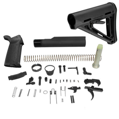 DSG Arms Lower Build Kit w/ MAGPUL MOE Carbine Stock MilSpec Model - Black