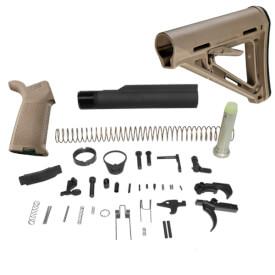DSG Arms Lower Build Kit w/ MAGPUL MOE Carbine Stock MilSpec Model - Dark Earth