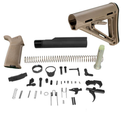 DSG Arms Lower Build Kit w/ MAGPUL MOE Carbine Stock MilSpec Model - Dark Earth