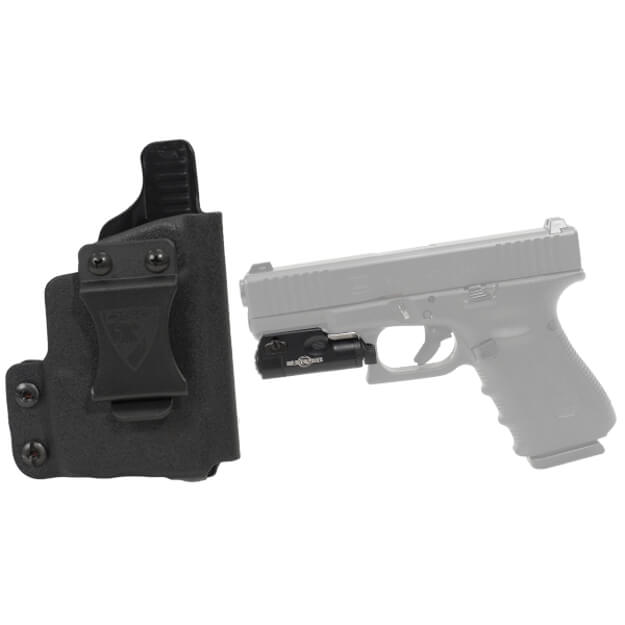 CDC Holster Glock 19/23/32 for XC1 Right Hand Black w/Surefire XC1 Light