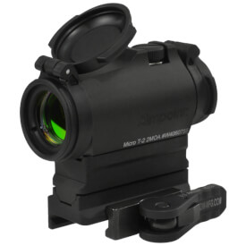 Aimpoint Micro T2 2MOA with American Defense Base and Riser - Absolute Co-witness