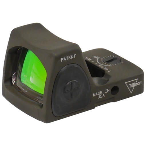 Trijicon RM06-C-700695 RMR Type 2 - Adjustable 3.25 MOA Red Dot - Cerakote Olive Drab Green