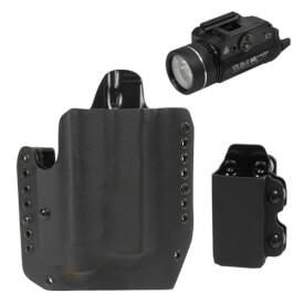 Alpha Glock 17/19 TLR-1 Light Holster RH w/ CDC-M Mag Carrier - Black & Streamlight TLR-1 HL Light