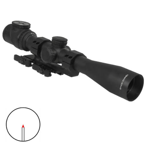 Trijicon AccuPower 2.5-12.5x42 BAC Red Triangle Reticle w/ Midwest Ind 30MM QD Mount