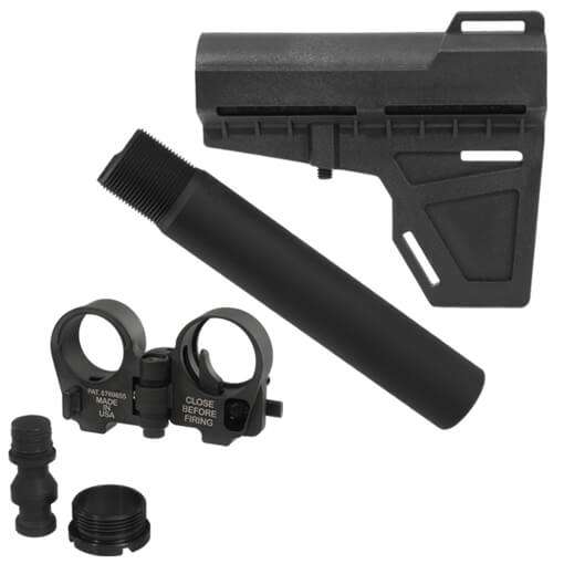 KAK Shockwave Pistol Stabilizer and Tube w/ Law Tactical Folding Stock Adapter - Black