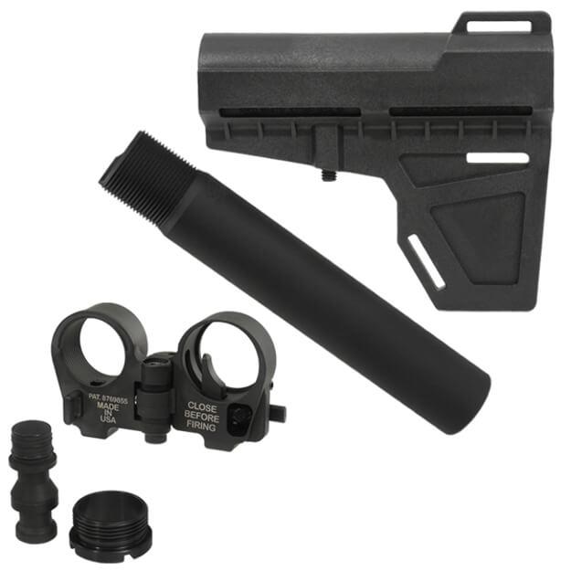 KAK Shockwave Pistol Stabilizer and Tube w/ Law Tactical Folding Stock Adapter - Black