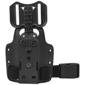 Safariland 6004-25-2 Single Strap Leg Shroud w/Drop Flex Adapter - Black