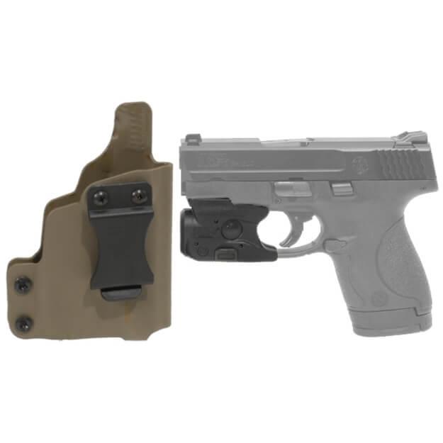 DSG CDC S&W M&P Shield Holster RH E2 Tan includes Streamlight TLR-6 M&P Shield Tactical Light