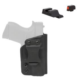 CDC Holster Glock 43 Right Hand - Black w/ Trijicon Glock 42/43 HD XR Night Sights - ORG