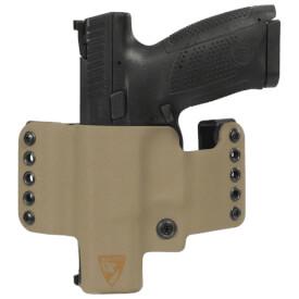 HR Vertical Holster CZ P10C Left Hand - E2 Tan