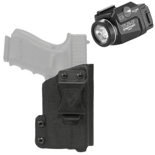 DSG CDC Holster Glock 19/23/32 RH Black includes Streamlight TLR-7 Tactical Light