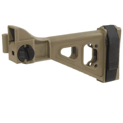 SB Tactical SBTi Side Folding Brace - B&T APC / HK UMP - Dark Earth