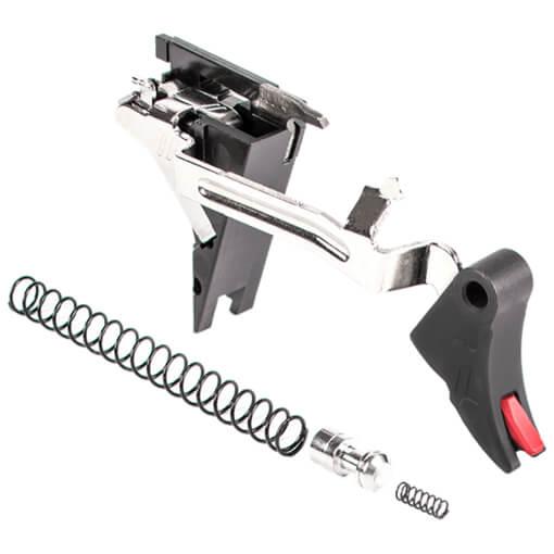 Zev PRO Curved Face Trigger Drop-In Kit Gen 4 9MM - Black/Red