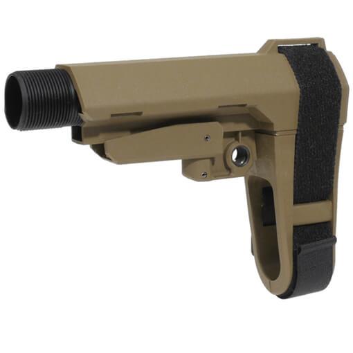 SB Tactical SBA3 5 Position AR Brace - Dark Earth