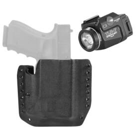 DSG Alpha Holster Glock 19/23/32 RH Black includes Streamlight TLR-7 Tactical Light