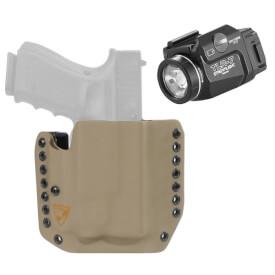 DSG Alpha Holster Glock 19/23/32 RH E2 Tan includes Streamlight TLR-7 Tactical Light