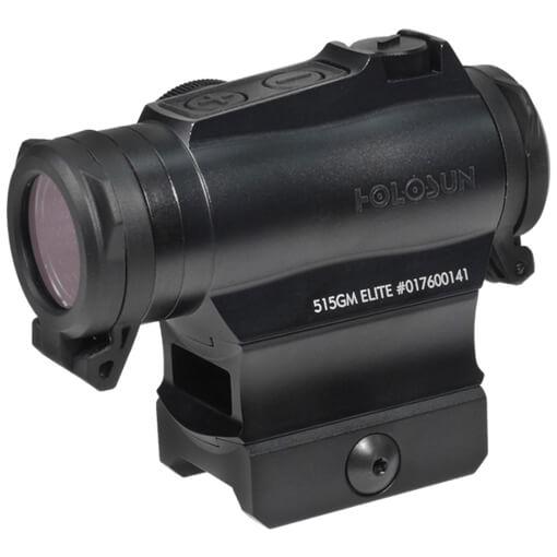 Holosun HE515GM-GR Elite Micro Sight - Green Circle Dot / Shake Awake / QD Mount