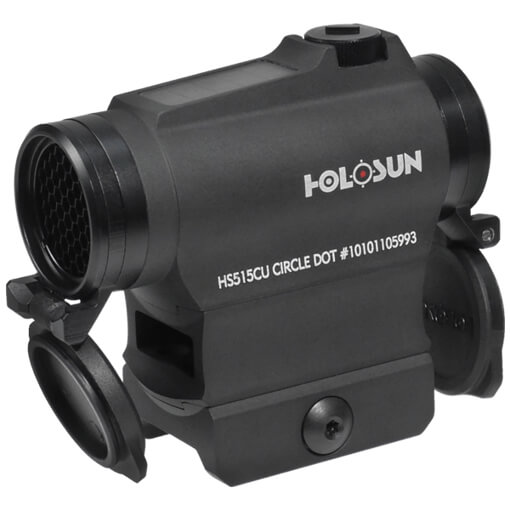 Holosun HS515CU Micro Sight - Red Circle Dot / Solar Panel / QD Mount