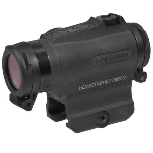 Holosun HE515GT-GR Elite Micro Sight - Green Circle Dot / QD Mount / Titanium