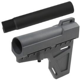 KAK Industry Shockwave Blade Pistol Stabilizer w/ Pistol Tube - Grey