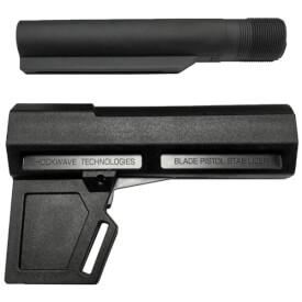 KAK Industry Shockwave 2.0 Blade Pistol Stabilizer Includes Tube - Black