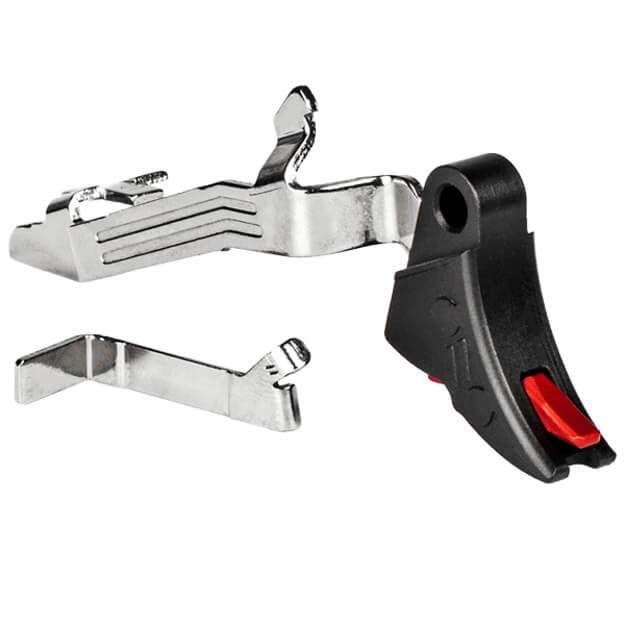 Zev PRO Curved Face GLOCK Gen5 Trigger Bar Kit - Black/Red