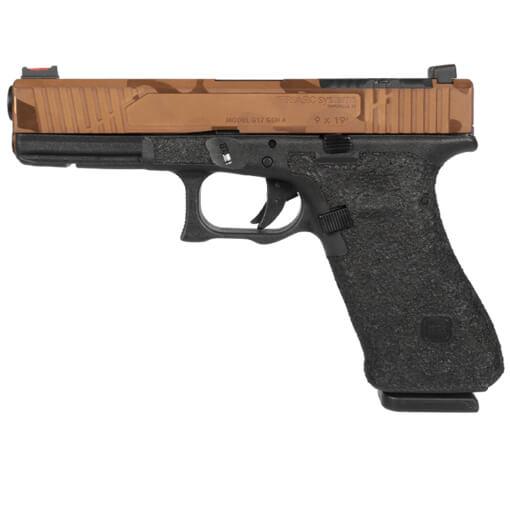 TriArc Glock 17 Gen 4 V3 Slide w/ TRACK Barrel - PVD Copper Camo Executive Finish